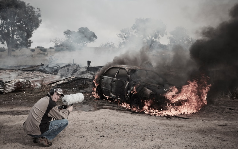 Recording Burning Car for Sound Design