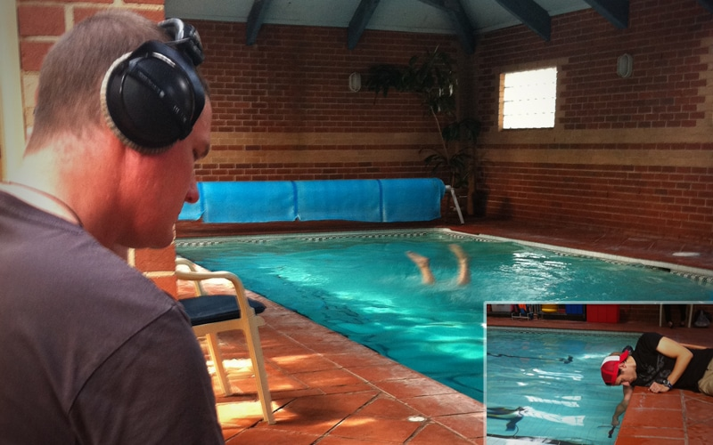Hydrophone Recording Voice Underwater